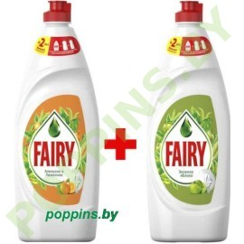 AKЦИЯ Fairy Апельсин и Лимонник 650мл + Зеленое яблоко 650мл