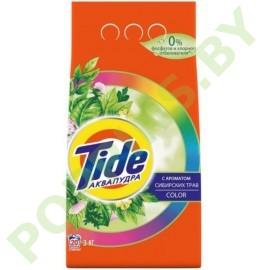 Стиральный порошок Tide АКВАПУДРА Color С ароматом сибирских трав 3кг