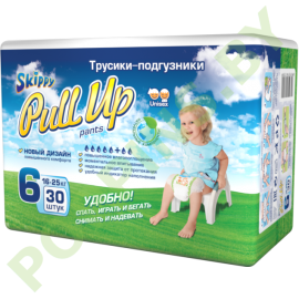 AKЦИЯ Трусики Skippy Pull Up 6 (16-25кг) 30шт