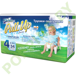 AKЦИЯ Трусики Skippy Pull Up 4 (9-14кг) 34шт