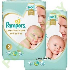 AKЦИЯ Подгузники Pampers Premium Care 2 (4-8кг) 66x2=132шт