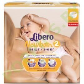 AКЦИЯ Подгузники Libero Newborn 2 (3-6кг) 94шт
