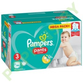 Трусики Pampers Pants 3 (6-11 кг) 120шт