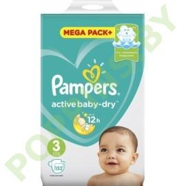 CУПЕР ЦЕНА Pampers Active Baby 3 Midi (6-10кг) 152шт