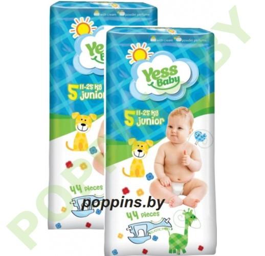 Подгузники Yess baby 5 Junior (11-25кг) 44x2=88шт