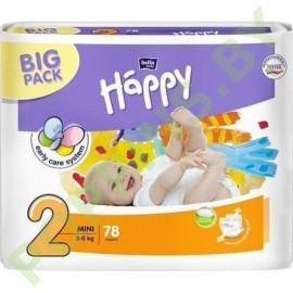 NEW Подгузники Bella Baby Happy 2 Mini (3-6кг) 78шт