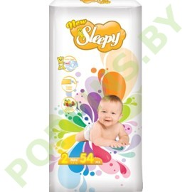 Подгузники Sleepy 2 Mini (3-6кг) 54шт