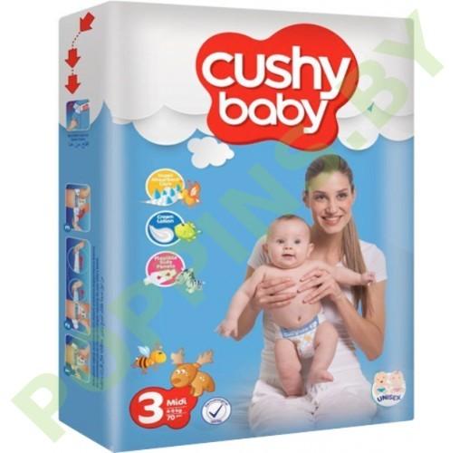 Подгузники Cushy baby 3 Midi (4-9кг) 70шт