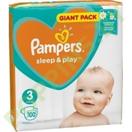 NEW Подгузники Pampers Sleep&Play 3 (6-10кг) 100шт