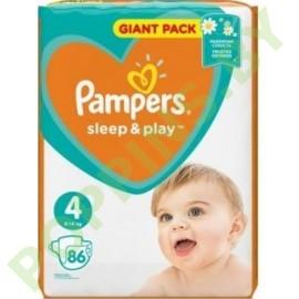 NEW Подгузники Pampers Sleep&Play 4 (9-14кг) 86шт