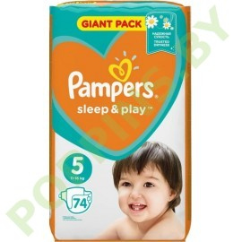 NEW Подгузники Pampers Sleep&Play 5 (11-16кг) 74шт