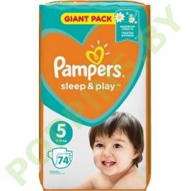 NEW Подгузники Pampers Sleep&Play 5 (11-16кг) 74шт