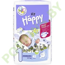 Подгузники Bella Baby Happy 1 Newborn (2-5кг) 42шт