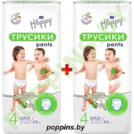 NEW Трусики Bella Baby Happy 4 Maxi (8-14кг) 2x44=88шт