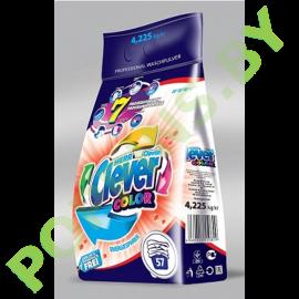 Стиральный порошок Clever Professional Color 4,225кг