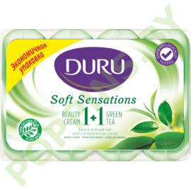 Мыло DURU 1+1 Soft Sensations Зеленый чай 4х90г