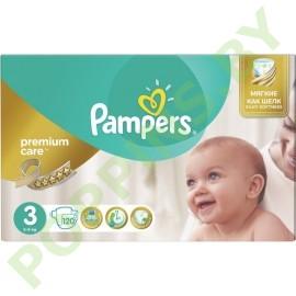 Подгузники Pampers  Premium Care 3 Midi (5-9кг) 120шт