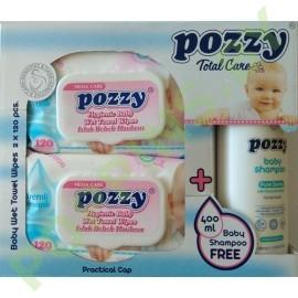 Hабор Pozzy: вл.салф. (розовые) 2x120шт+ шампунь 400мл