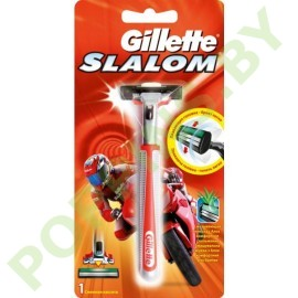 Бритва Gillette  Slalom со смен.кассетой (1шт) Красная