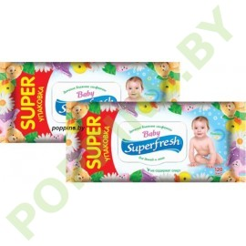 АКЦИЯ Вл.салфетки Superfresh Baby (ромашка) 2x120шт