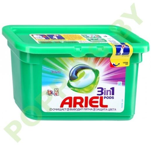 Капсулы Ariel Color 12шт