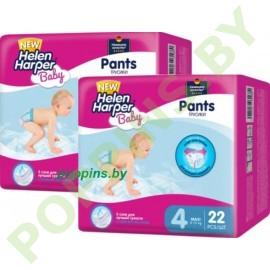 АКЦИЯ Трусики Helen Harper Baby 4 Maxi (8-13кг) 22штx2=44шт