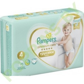 Трусики Pampers Premium Care Pants 4 (9-15кг) 38шт