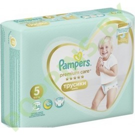 Трусики Pampers Premium Care Pants 5 (12-17кг) 34шт