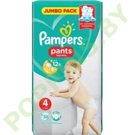 Трусики Pampers Pants 4 Maxi (9-15кг) 52шт