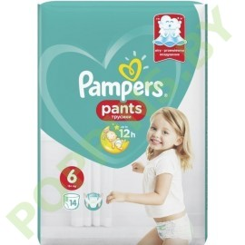 Трусики Pampers Pants 6 Extra Large (15+ кг) 14шт