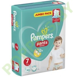 Трусики Pampers Pants 7 (17+кг) 40шт