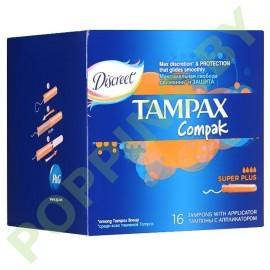 Тампоны Tampax Compak Super plus (4*) 16шт