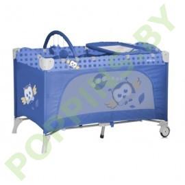 АКЦИЯ Кровать-манеж Lorelli Travel Kid 2 Blue Baby Owl
