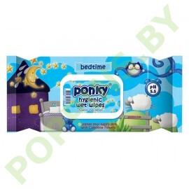 Салфетки влажные Ponky bed time 70шт с крышечкой