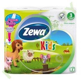 АКЦИЯ Детская туалетная бумага Zewa Kids (3 слоя) 4рул