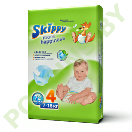 Подгузники Skippy 4 Maxi (7-18кг) 72шт