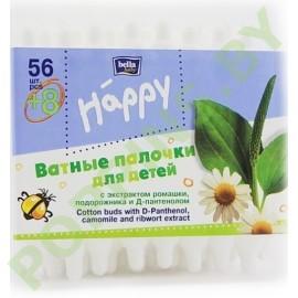 Ватные палочки для детей Bella Happy 56+8=64шт