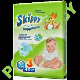 Подгузники Skippy 3 Midi (4-9кг) 81шт