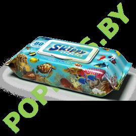 Салфетки влажные для детей Skippy Agua с крышечкой 80шт