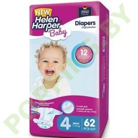 Подгузники Helen Harper Baby 4 Maxi (7-14кг) 62шт