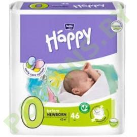 NEW Подгузники Bella Baby Happy 0 before Newborn (≤2кг) 46шт