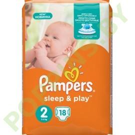 Подгузники Pampers Sleep&Play 2 Mini (3-6кг) 18шт