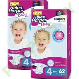 АКЦИЯ Подгузники Helen Harper Baby 4 Maxi (7-14кг) 62х2=124шт