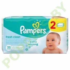 Салфетки влажные Pampers Fresh Clean 2x64=128шт