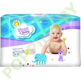 Подгузники Yess baby 3 Midi (4-9кг) 30шт