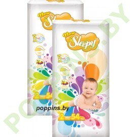 Подгузники Sleepy 2 Mini (3-6кг) 54x2=108шт