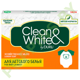 Мыло хозяйственое DURU Clean&White для детского белья 125г