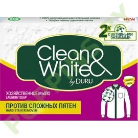Мыло хозяйственое DURU Clean&White против пятен 125г