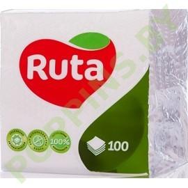 Салфетки бумажные Ruta (белые) 100шт