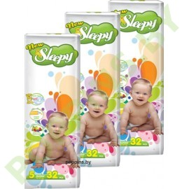 Подгузники Sleepy 5 Junior (11-25кг) 32x3=96шт